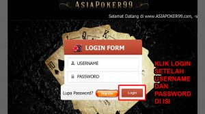 Menu Login ASIAPOKER99